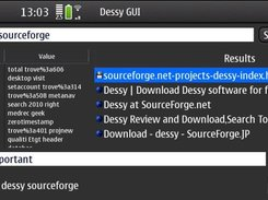 Dessy on the N900 doing a local and Internet search.