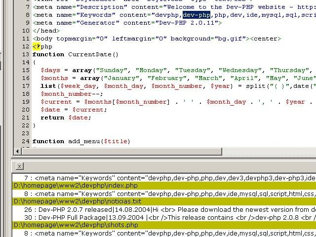 Dev-PHP IDE \/ Wiki \/ Home