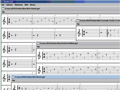 DGuitar with multiple GP4 files open