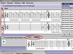 Two files open (multirack view vs tab view) a MIDI playing