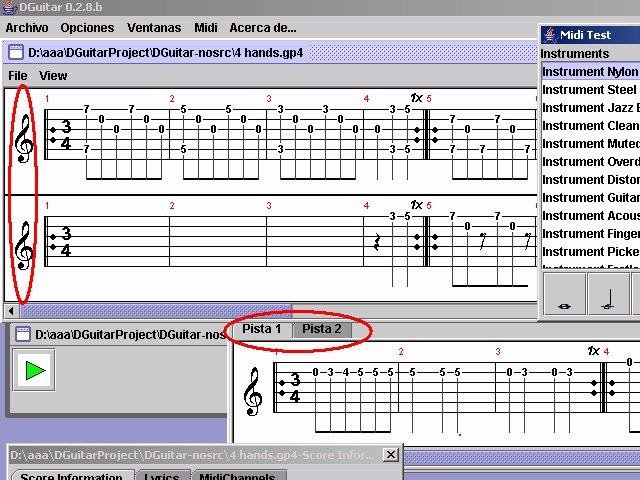 DGuitar: a Guitar Pro viewer, player download | SourceForge net