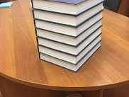 Stack of printed dissertations