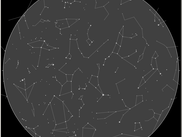Star Map showing stars and constellations with no deep sky objects