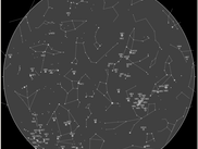 Star Map including messier catelog objects