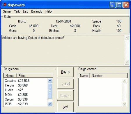 dopewars drug dealing game download | SourceForge net