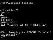 The test program