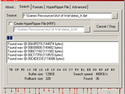 HyperRipper module detecting file formats in a resource file
