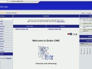 Drake CMS frontpage of default demo website