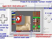 the user interface of Sprite Editor for DS