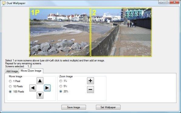 DualWallpaper Adjustment Of Image