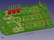 FreeCAD-PCB workbench: Communication module