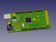 FreeCAD-PCB workbench: Arduino MEGA2560