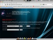 EarnestAI welcome screen running in Firefox 3.6 Ubuntu 9.10.