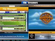 The built in media player allows you to stream your content from your cloud storage.