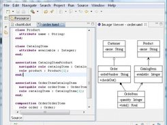 The TextUML Toolkit uses EG to render the UML models created