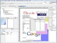 Office with Browser Frames and imbedded Spreadsheet