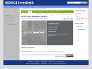 eduCommons - Course Page (logged in)