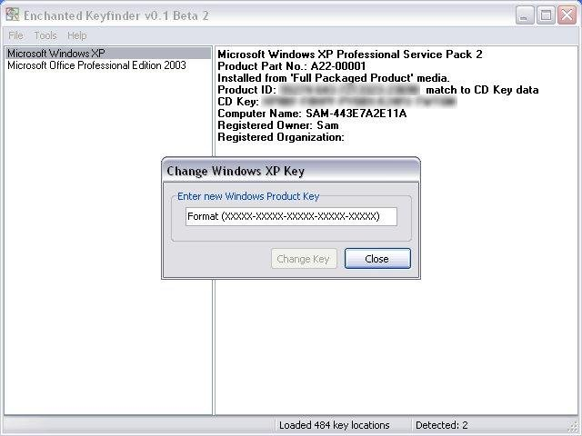 changing the windows xp installation key - Visio 2007 Serial Key