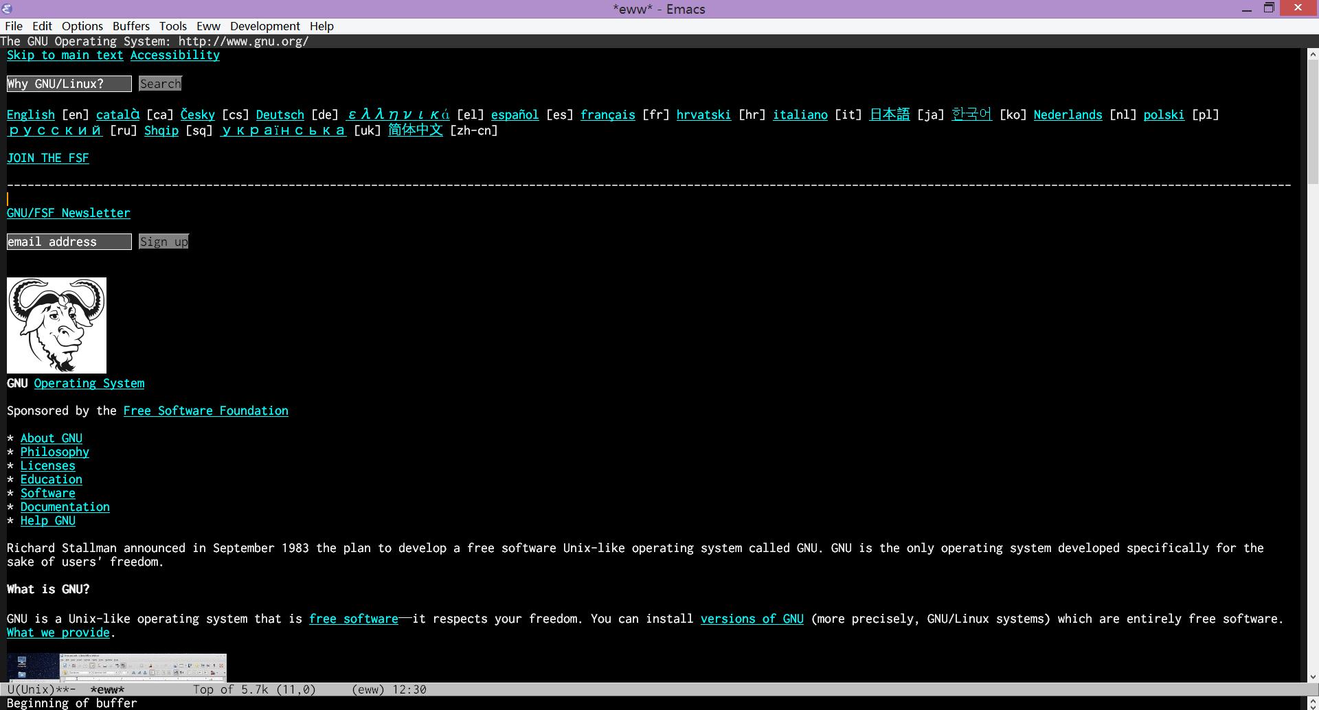 emacs per windows