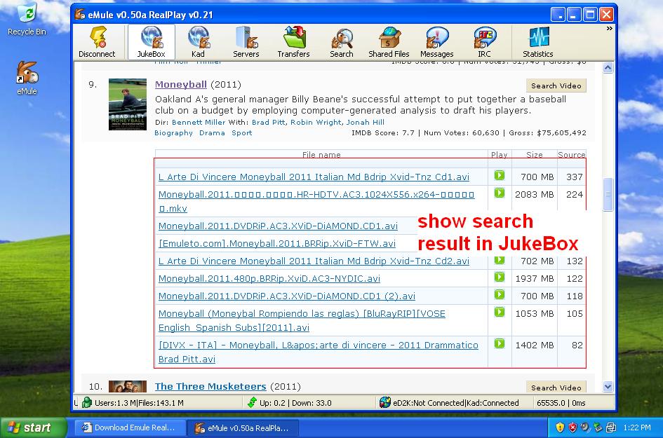 Emule RealPlay Mod download | SourceForge net