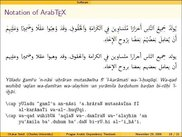 Encoding Arabic in the ArabTeX Notation