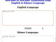 Automatic Statistical Machine Translation from English to Khmer Language