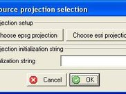 Projection selection dialog