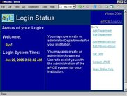 System Administrator Login Status Page