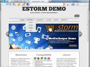 Front end default template home page