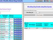 A blood request form of Blood Bank module