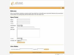 eTicket v1.5 index page
