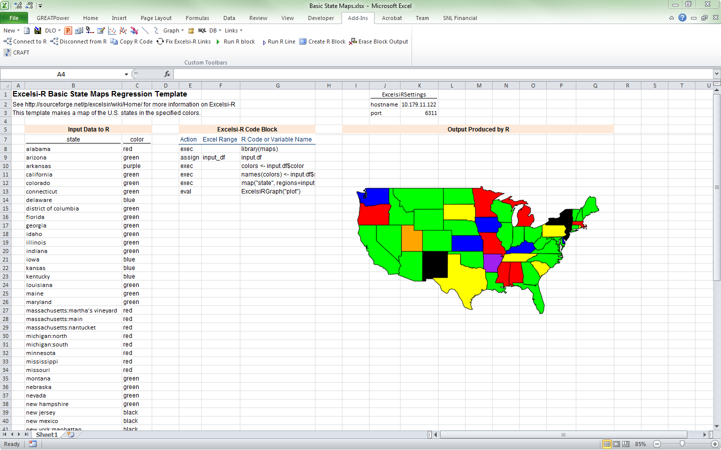 Interactive Map In Excel YouTube Us Map Excel Shapes Us Free - Excel us map chart free download