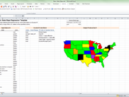 Screenshot of US state mapping template.  Requires maps package to be installed on remote server.