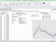 Screenshot of the local linear regression (including plot) inside Excel.  Requires sm package on remote server.