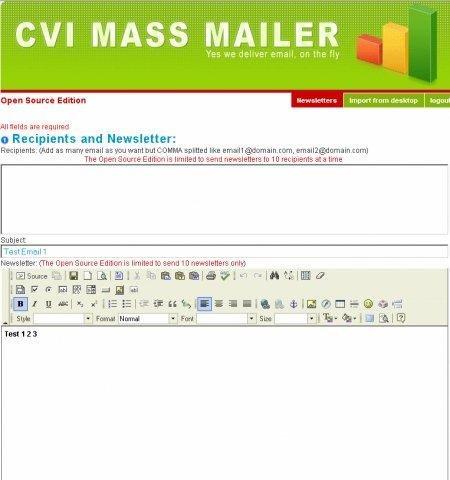 EZ Mass Mailer download | SourceForge net