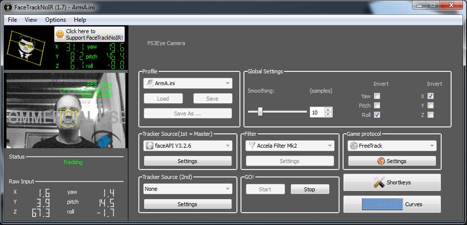 facetracknoir download | SourceForge net