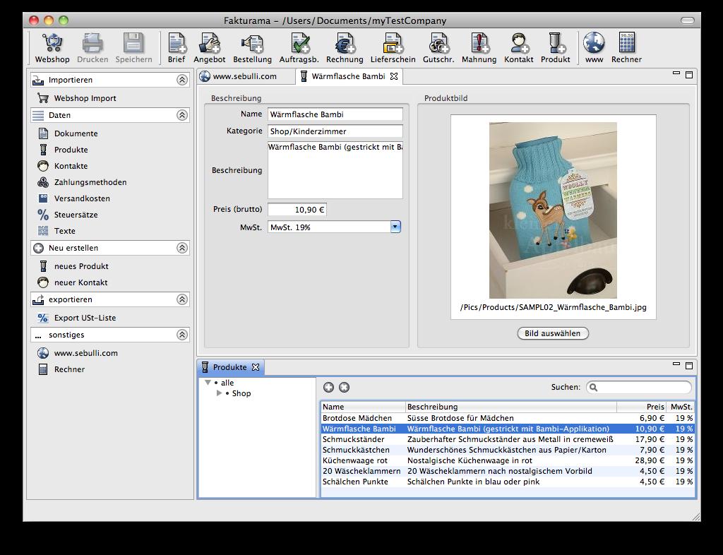 Fakturama Invoicing Made Easy Download SourceForgenet - Invoice program free download korean online store