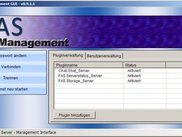 The FAS management interface with German UI