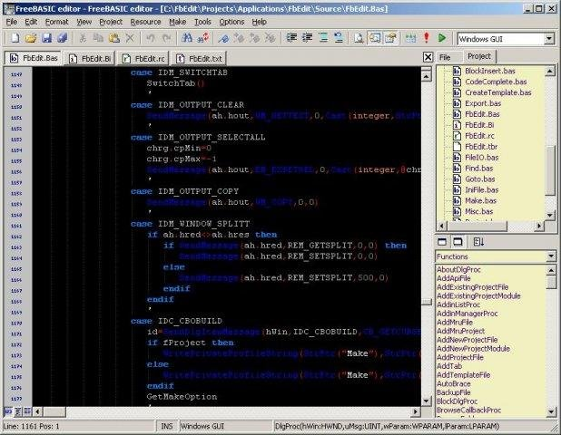 FbEdit FreeBASIC code editor download | SourceForge net