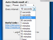 set time/interval of auto-checking