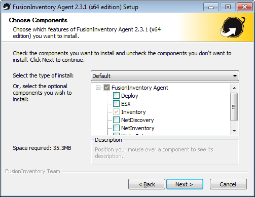 AGENT TÉLÉCHARGER 64 FUSIONINVENTORY BITS WINDOWS
