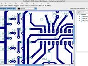 FidoCadJ 0.23.3 on MacOSX 10.4 Tiger, working on a PCB