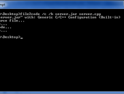File2Code being called from Windows command line.