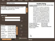 FindThatWord on Ubuntu, showing a tasty puzzle preview