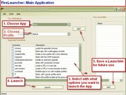 3. FireLauncher:  Main Application Window
