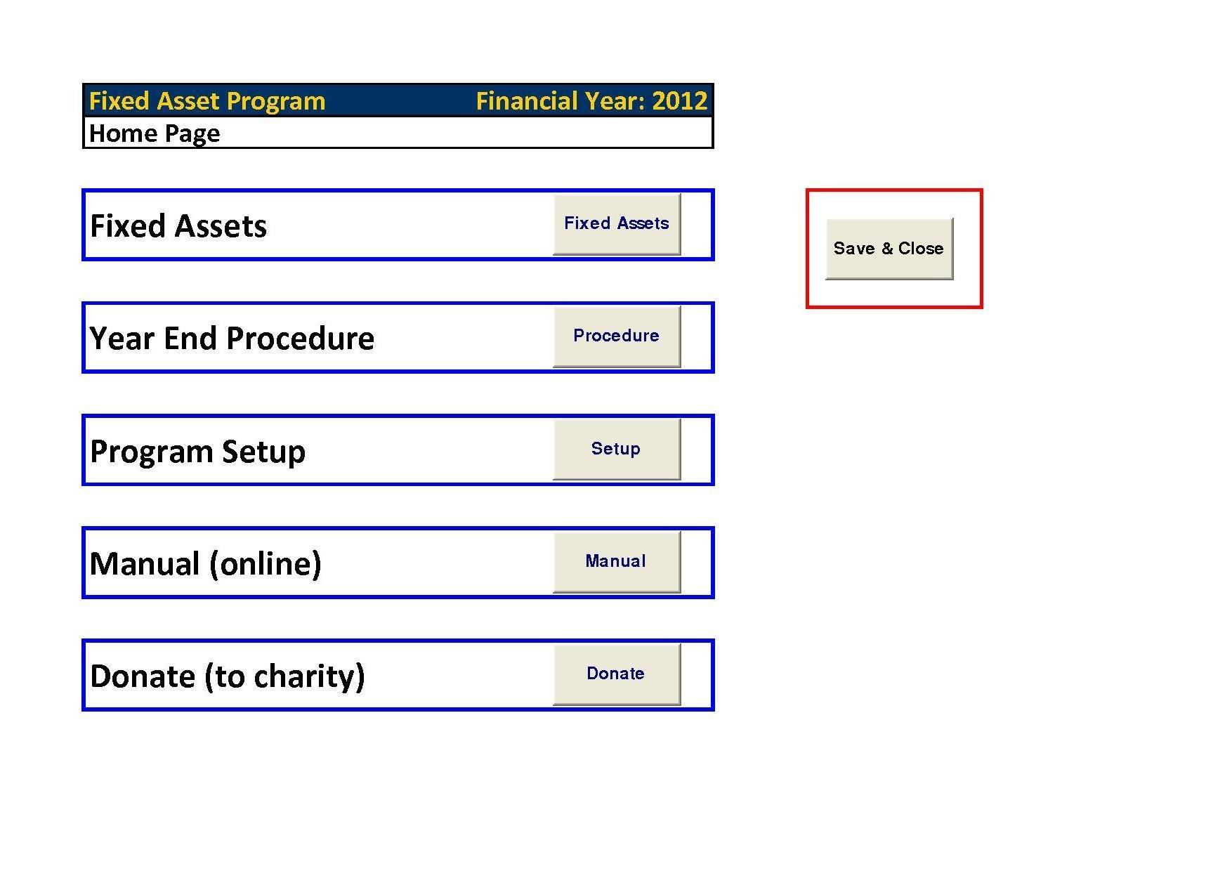 Fixed Assets Pro (Excel) download | SourceForge.net