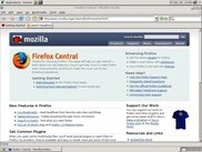 The default Firefox home page