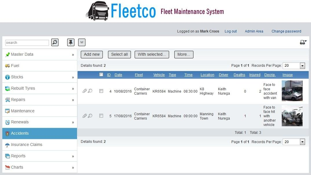 Fleetco fleet maintenance management download sourceforge accident reporting fuel efficiency chart pronofoot35fo Images