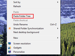 Context menu with Paste Folder Tree