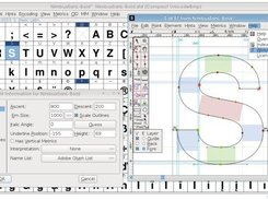 FontForge using the Sky theme (June 2012)